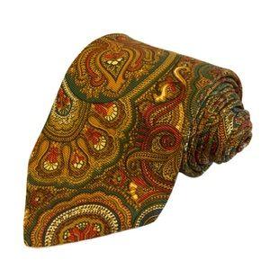 EUC Vintage Brooks Brothers Golden Paisley Tie